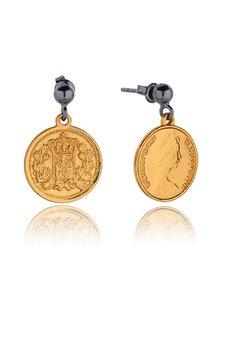 Joccos Design - Royal Coin Earrings in Gold