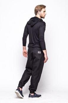 Evidence on Monday - Spodnie z zakładkami - czarne