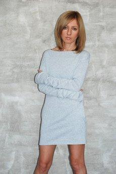 Dresowa sukienka easy szara 033cd7