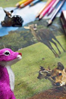 MissSpark - Kurtka BOTANICAL Bambi z futrem