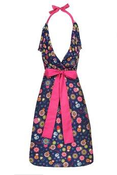 "Apronessa (apron (fartuch) + dress (sukienka) - CHARLOTTE ""GRANATOWE MATRIOSZKI"" - 43018"