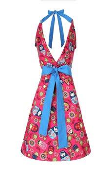 "Apronessa (apron (fartuch) + dress (sukienka) - CHARLOTTE ""RÓŻOWE MATRIOSZKI"" - 43019"