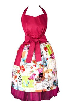 """Apronessa (apron (fartuch) + dress (sukienka) - GRACE """"WIZYTA W PARYŻU"""" - 43022"""