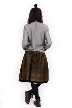 NIKURRA - METARIKKU Bluzka z długim rękawem i napami