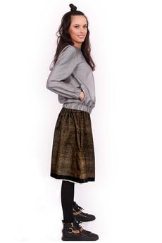 NIKURRA - SIN CITY SUKATO - złota dwustronna spódnica z kieszeniami