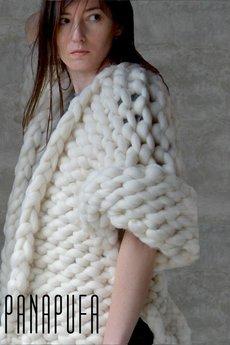 PANAPUFA - sweter KINGSIZE  100% wełna merynos
