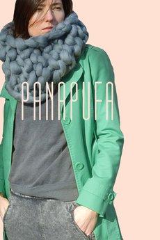 PANAPUFA - UNISEX SZAL KOMIN 100% WEŁNA MERINO