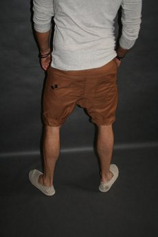 Button - Button drill short pants krótkie spodenki brązowe