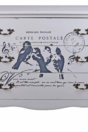 Komoda drewniana Carte Postale