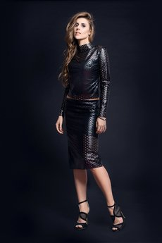 WOW - Oryginalna czarna spódnica Glamour Shadow