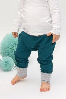 El Piloto - Spodnie Baggy Szmaragdowe