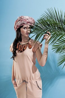 Afriq Password - Sukienka Tropical Peach