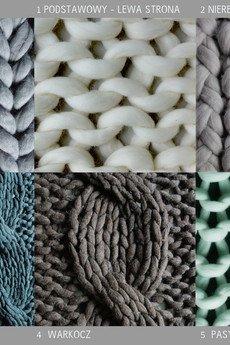 PANAPUFA - NARZUTA NA ŁÓŻKO 100% WEŁNIANY na drutach XXL