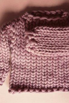 PANAPUFA - Wełniany sweter na grubych drutach 100% wełna merynos