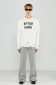 After dark damage sweatshirt in off white womens 4d7357 da01bd