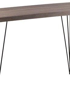 MIA home passion - Konsola dębowa z metalowymi nogami