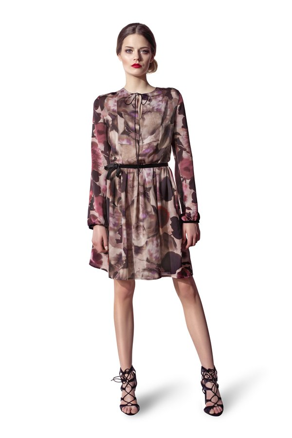 b807d53925418e Sukienki Rękaw 3/4 Sukienki Wiązane Sukienki w Paski Sukienki Wzory Sukienki  Zwiewne Sukienki Dzianinowe Sukienki w Kwiaty