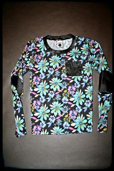 Button - BLUZA FLOWER BLOUSE UNISEX