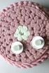 Pufa wooly pudrowy roz 502f2b