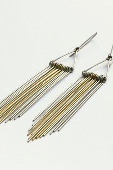 Stalowe minimalistyczne kolczyki feathers 8df279 040735