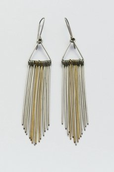 Stalowe minimalistyczne kolczyki feathers 8df279 73919a