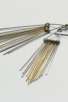 Stalowe minimalistyczne kolczyki feathers 8df279 2775be