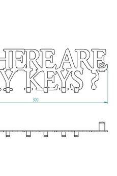 decolicious.pl - Wieszak na klucze WHERE ARE MY KEYS?
