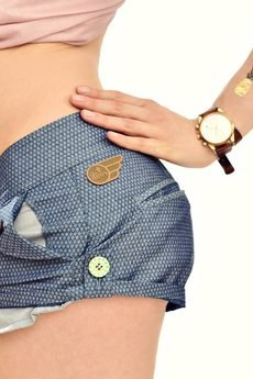 DON'T NEED NO SAMURAI - Blue Shorts
