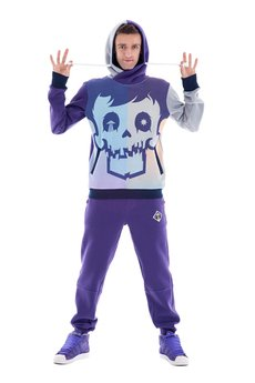 OKUAKU - Cristal Skull Hoodie (Purple)