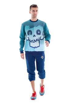 OKUAKU - Cristal Skull Sweatshirt (Turquoise)