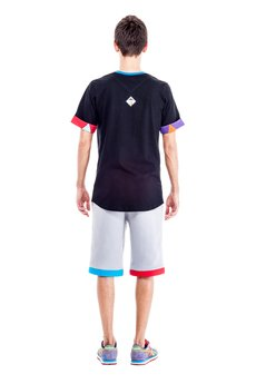 OKUAKU - Cristal Skull Pocket T-shirt (Colourful)