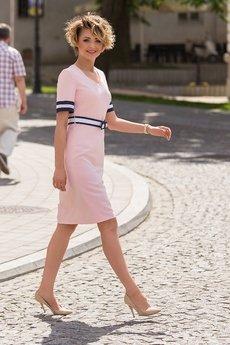Duhla Agnieszka Barańska - Różowa sukienka JUST LOOK I