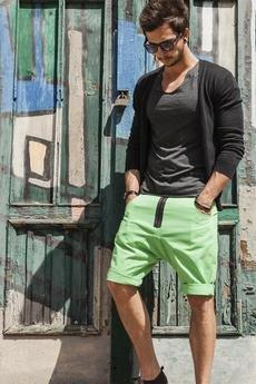 Button - Button drill short pants krótkie spodenki zielone