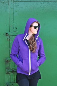 Button - BLUZA HOODIE SIMPLE UNISEX fiolet