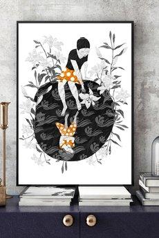 Parallel World - Biała Lilia... art print a4