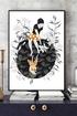 Biala lilia art print a4 a02005
