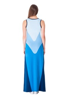 OKUAKU - Pavo Maxi Dress (Blue)