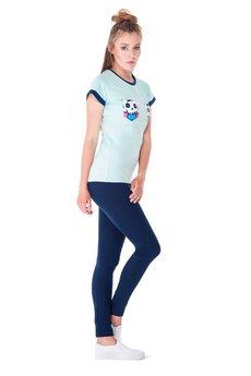 OKUAKU - Crystal Skull Double Pocket T-shirt (Mint)