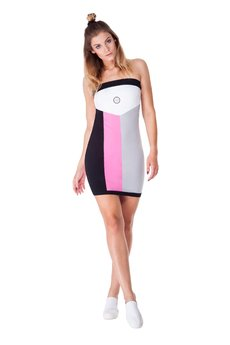 OKUAKU - Telescopium Dress (Black&Pink)