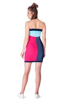 OKUAKU - Telescopium Dress (Pink&Jeans)