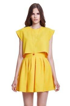 KOZACKI MOPS - Spódnica Macarons żółty