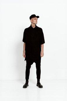 Girl Little Boy - T-shirt Oversize Men Black.