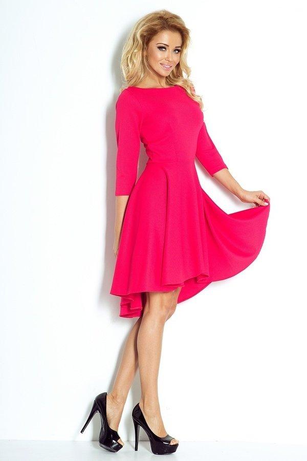 c5a16c0d0f Sukienka Asymetryczna Długi Rękaw Fuksja - Różowy