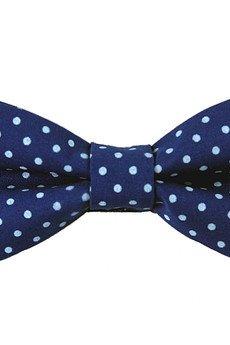 bowstyle - Mucha gotowa bowstyle Niebieska błękitne kropki