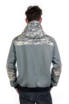 Slogan ubrania ekologiczne, etyczne i wegańskie - ANTI kurtka dwustronna męska  camuflage
