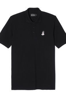 PIN UP POLO SHORTSLEEVE IN BLACK - 53010
