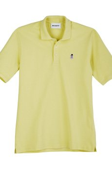 PIN UP POLO SHORTSLEEVE IN YELLOW - 53013