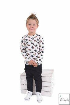 Gapula - Czarne spodnie baggy z obniżonym krokiem