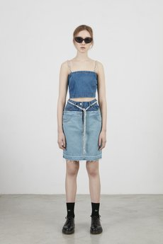 2-IN-1 DENIM SKIRT - 53056