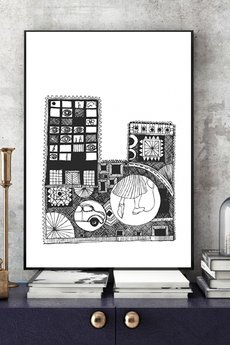 Parallel World - Miasto... ilustracja 30x40 cm.